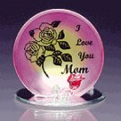 GLASS I LOVE YOU MOM CANDLE HOLDR