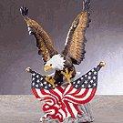PORC. EAGLE ON FLAGS ROCK BASE