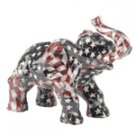 PATCHWORK ELEPHANT AMER. FLAG