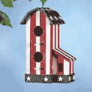 WOOD AMERICANA BIRDHOUSE