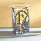 IRIS PAINTED GLASS OIL WARMER
