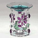 STAIN GLASS FLOWER OIL WARMER