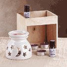 SUN MOON BURNER CANDLE AND OIL SET
