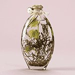 FLOWER AND LEAVES OIL LAMP BOTTLE