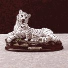 Alab White Tiger Cub Wood Base