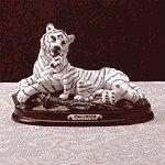Alab White Tiger Cub Wood Base