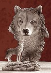 ALAB TIMBER WOLF W WOLF HEAD