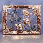 FISH METAL FRAMED SCULPTURE