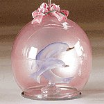 XMAS GLASS ORNAMENT - DOLPHINS