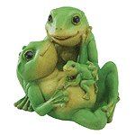 ALAB. FROGS FAMILY FIGURINE