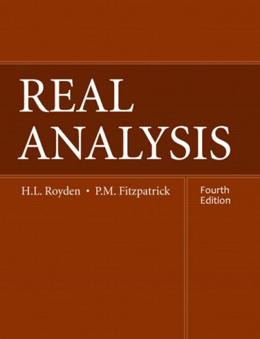 Real Analysis (4th Edition)