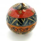 Handmade Hand Painted Ball Candles South African Fair Trade Nobunto-Bongazi Design