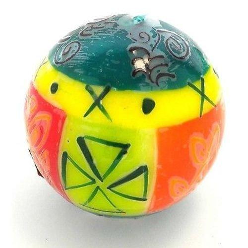 Handmade Hand Painted Ball Candles South African Fair Trade Nobunto-Matuko Design