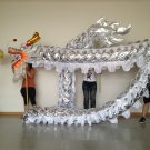 13m Length sliver sz5 Gold-plated 10 student Chinese DRAGON DANCE game Folk Festival mascot Costume