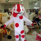F/S dot dog puppy Character mascot costume Christmas Adult size Festival Party