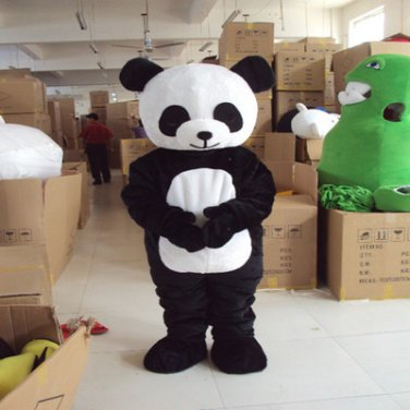 Free Shipping panda Cartoon Character mascot costume fancy adult cosplyCarnival Fancy Dress