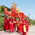 15.1m size 6 # 14 kid boy size red CHINESE DRAGON DANCE silk Folk Festival Celebration Costume 4 kid