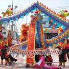 6m size 4 blue red 4 adult silk frabic CHINESE DRAGON DANCE Folk Festival mascot Costume