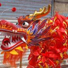 10m size 4 red 6 adult silk frabic CHINESE DRAGON DANCE Folk Festival mascot Costume