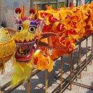 15.1m size 6 # 14 kid boy yellow silk CHINESE DRAGON DANCE Folk Festival Celebration Costume 4 kid