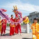 12.7m size 6 # 12 kid boy purple silk CHINESE DRAGON DANCE Folk Festival Celebration Costume