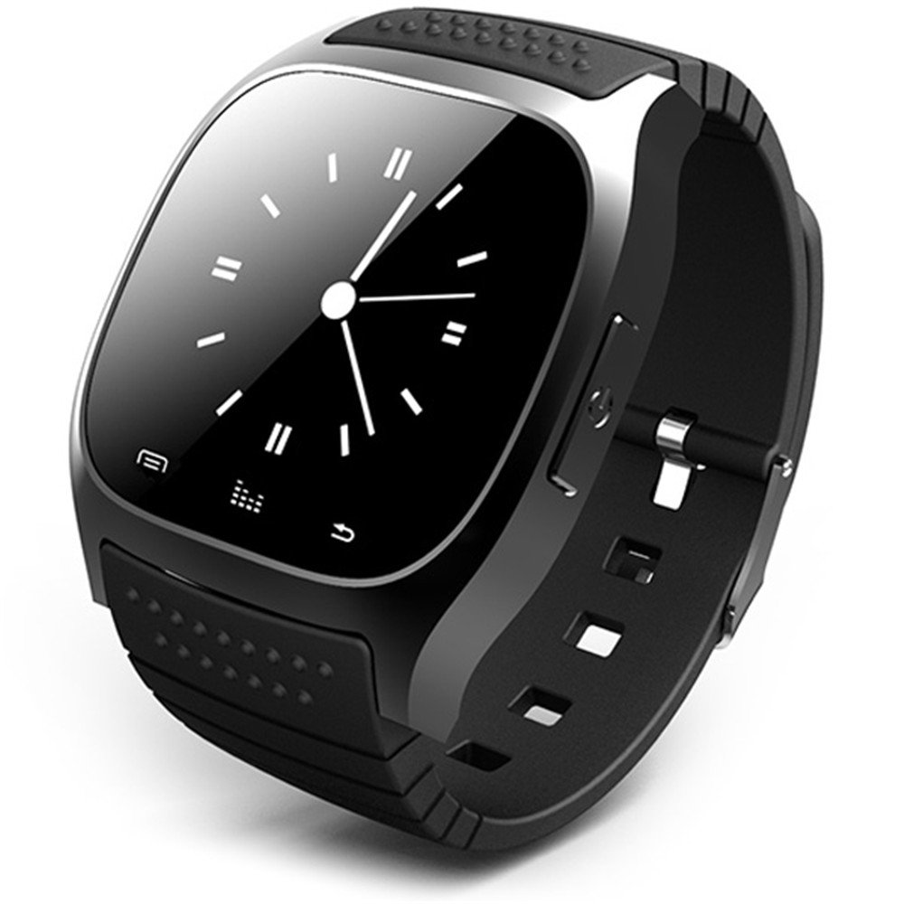 R-Watch M26S Bluetooth Smart Watch w LED Display Music Player Pedometer for Android iOS - Black