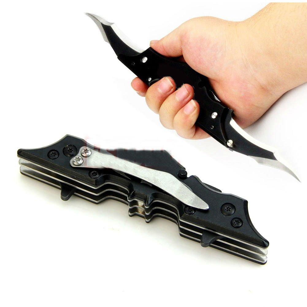 Pocket Bladed Folding Knife Tool The Dark Knight Black