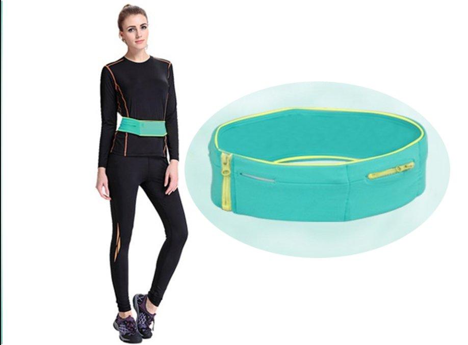 "Flip Running Belt Waist Pack for Mobile Phone Gym  - Aqua - Size S (26""-29"")"