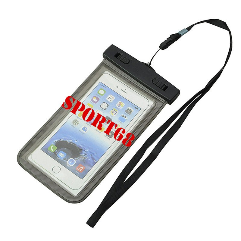 "Waterproof Case Universal Pouch for Outdoor Activities for Devices up to 6.0"" [2-PACK] - Black"
