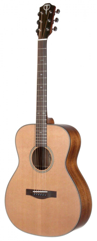 Teton STG205NT Acoustic Grand Concert Guitar. Solid Cedar Top, Solid