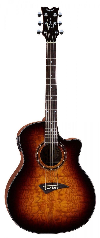 Dean Exotica Quilt Ash Acoustic/Electric Guitar - Trans Brazilia