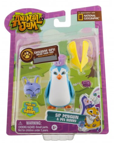 National Geographic Animal Jam. Sir Penguin and Pet Bunny.