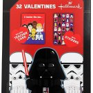 Hallmark Star Wars 32 Valentines Cards. Darth Vader Cover, Teacher Card/Stickers