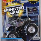 Hot Wheels Monster Jam chrome. Mohawk Warrior. Includes team flag 2/7