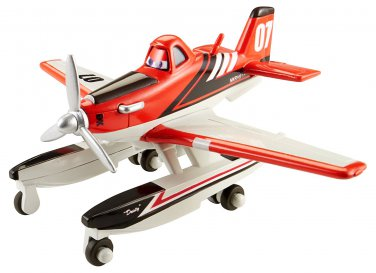 Disney Planes Fire and Rescue Firefighter Dusty with Pontoons 1:55 Scale Die-cast Vehicle
