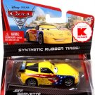 Disney Pixar CARS 2 Movie Exclusive Jeff Gorvette with Synthetic Rubber Tires