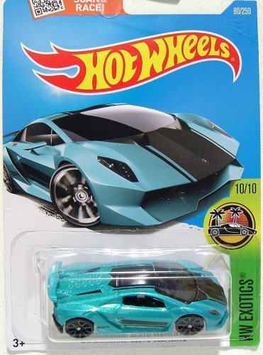 Hot Wheels, 2016 HW Exotics, Lamborghini Sesto Elemento [Teal] 80/250