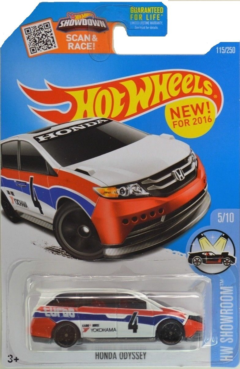 Hot Wheels, 2016 HW Showroom, Honda Odyssey [White] #115/250
