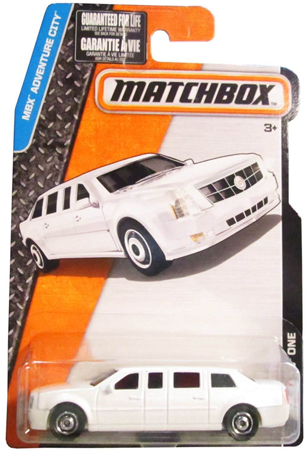 Matchbox, 2017 MBX Adventure City, Cadillac One Limo [White] 10/125
