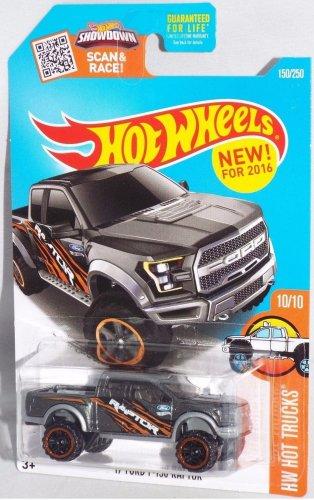 Hot Wheels, 2016 HW Hot Trucks, '17 Ford F-150 Raptor 150/250 (Dark Gray)