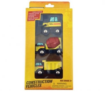 Tonka Construction wooden Vehicles 3-pack