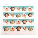 USPS Seashells POSTCARD Stamps. Sheet of 20.