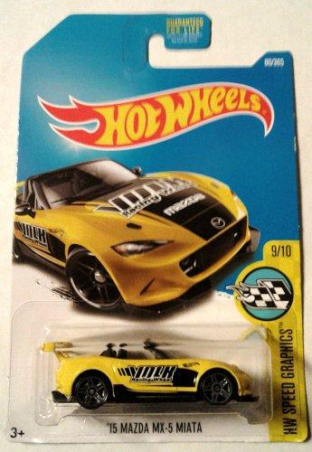 Hot Wheels, 2017 HW Speed Graphics, '15 Mazda MX-5 Miata [Yellow] 80/365