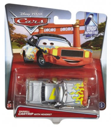 Disney Cars Pixar Die-Cast Darrell Cartrip with Headset Vehicle