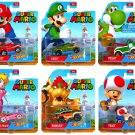 Super Mario Hot Wheels Retro Die Cast Complete Set of 6 Cars