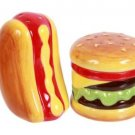 Dennis East Ceramic Hotdog & Hamburger S&P Shaker Set