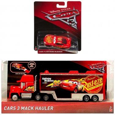Disney Cars 3 Lightning McQueen and #95 Rust-eze Lightning McQueen's Hauler