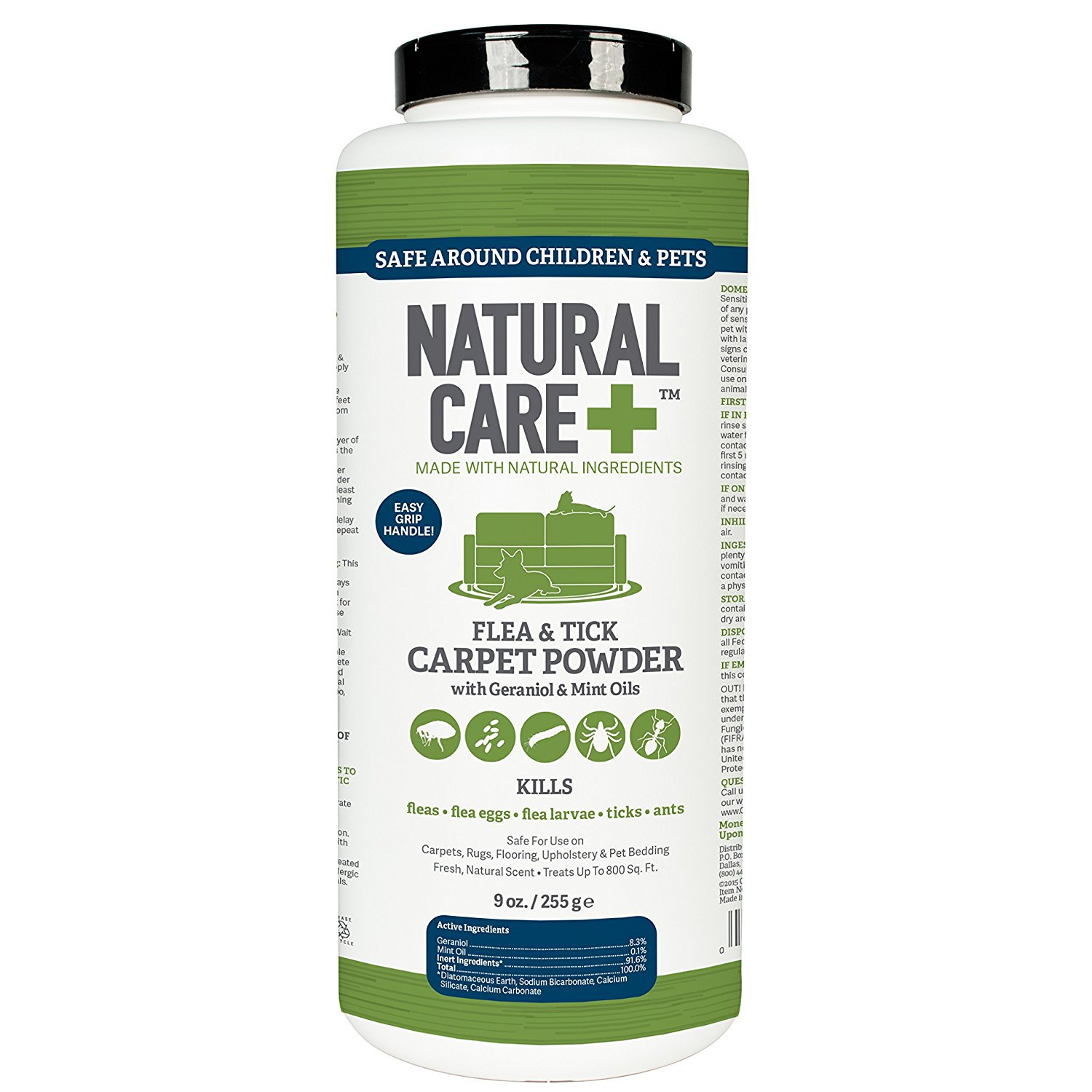 Natural Care Flea And Tick Carpet Powder 9 Oz For Dogs