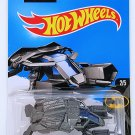 Hot Wheels 2016 Batman The Bat vehicle. Metallic Gray. 227/250