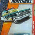 Matchbox MBX Heroic Rescue '63 Cadillac Ambulance 88/125, Turquoise
